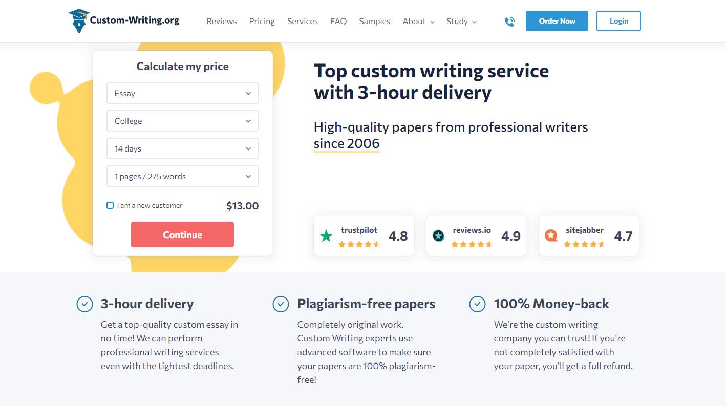 Read Custom Writing Reviews